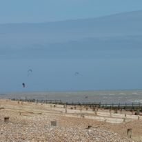 and the kitesurfers